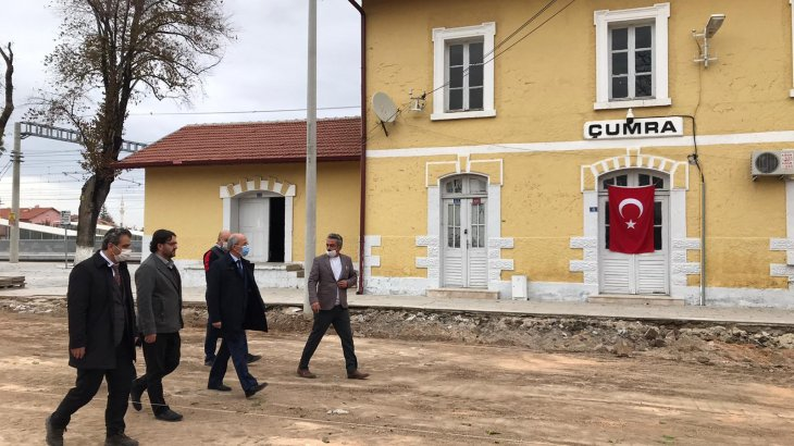 Tarihi Çumra İstasyonunun Çehresi Değişiyor