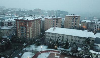 Beyaza bürünen İstanbul havadan görüntülendi