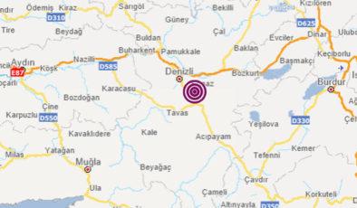 Denizli Pamukkale'de 4 büyüklüğünde deprem