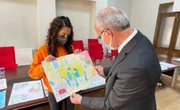 ÇUMRA'DA ÇOCUK GÖZÜYLE PANDEMİDE RESİM YARIŞMASI SONUÇLANDI