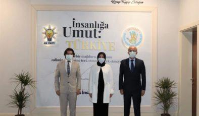 ÇUMRA HEYETİNDEN DR. LEYLA ŞAHİN USTA'YA ZİYARET